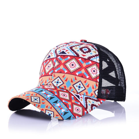 Aztec Print Pony Tail Hat