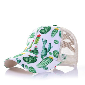 Cactus Print Pony Tail Hat