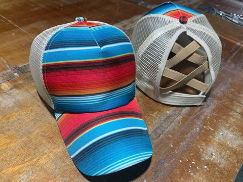 Serape Pony Tail Hat