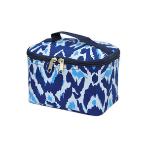 Aqua & Navy Cosmetic Case