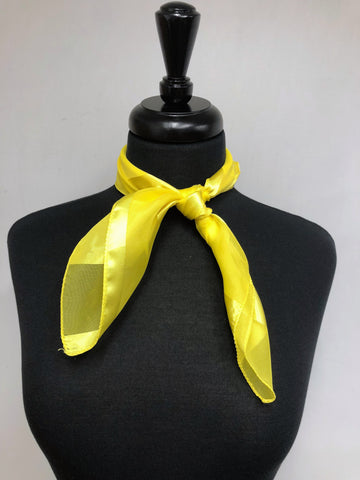 Bright Yellow Stripe Sheer Scarf