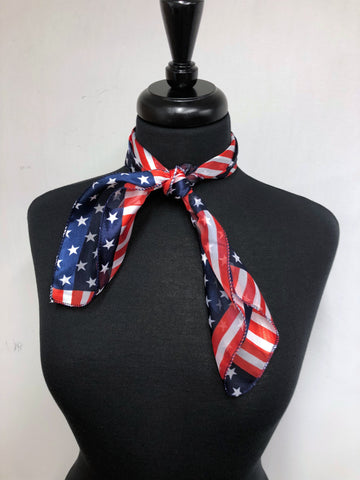 American Flag #3 Stripe Sheer Scarf
