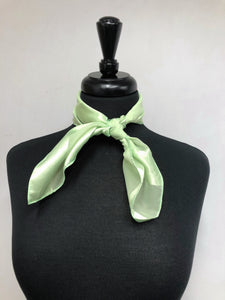 Light Green Stripe Sheer Scarf