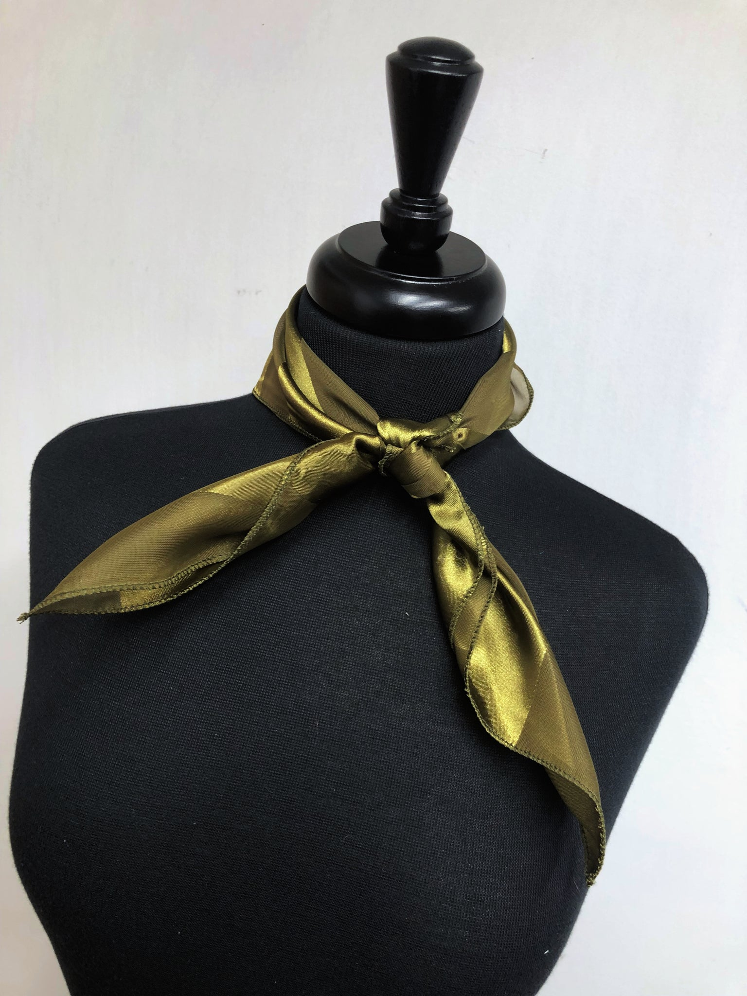 Olive Stripe Sheer Scarf