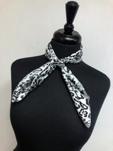 Black & Grey Leopard Scarf