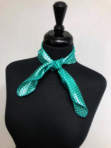 Mint Dot Stripe Sheer Scarf
