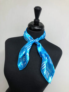 Turquoise Piano Stripe Sheer Scarf