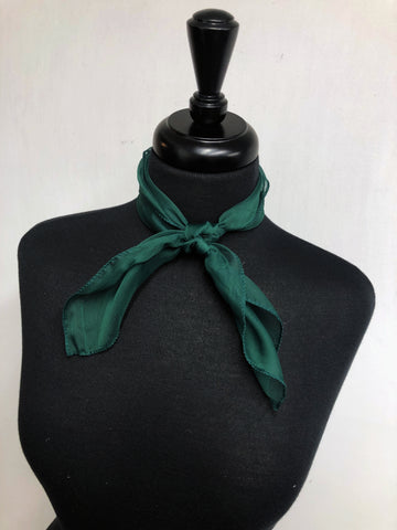 Hunter Green Sheer Scarf