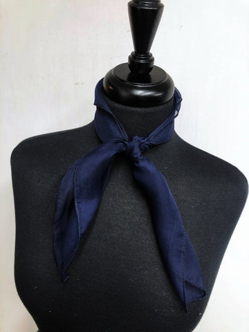 Navy Blue Sheer Scarf