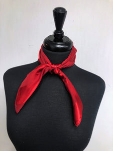 Dark Red Stripe Sheer Scarf