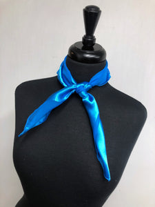 Electric Blue Stripe Sheer Scarf
