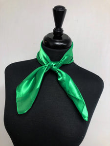 Kelly Green Stripe Sheer Scarf
