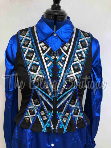 Black, Royal & Turquoise Vest