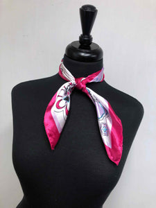 Hot Pink Flower Scarf