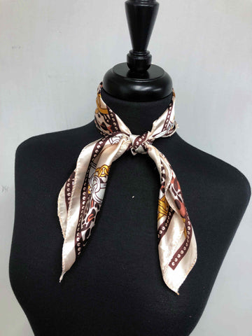 Cream & Brown Scarf