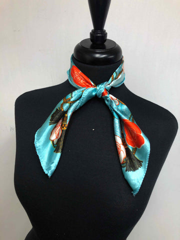 Mint & Orange Rose Scarf