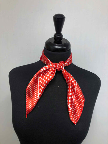 Red & White Dot Scarf