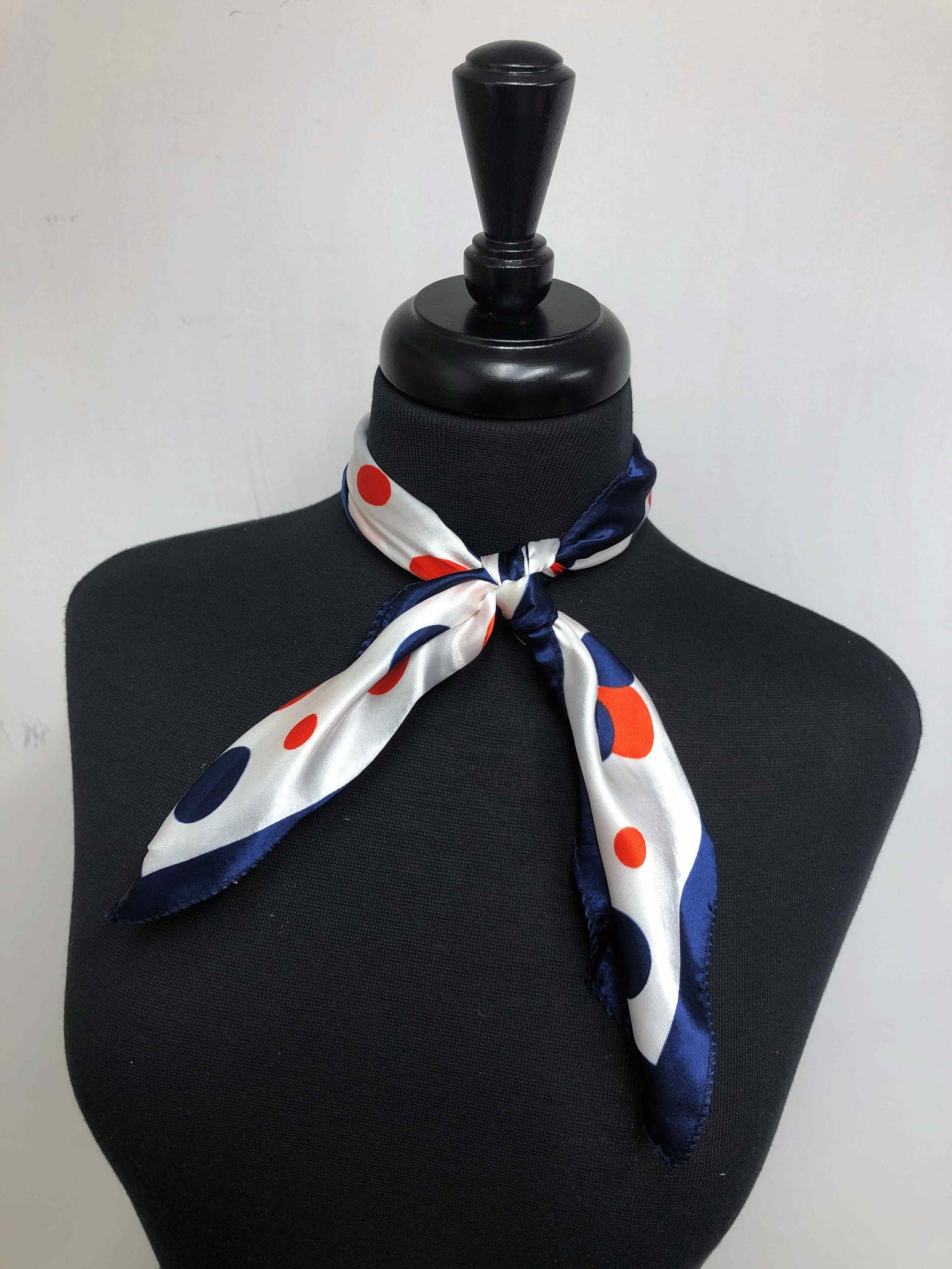 Red, White & Blue Dot Scarf