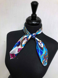 Turquoise & Royal Rope Scarf