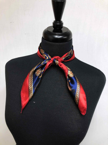 Red, Navy & Tan Scarf