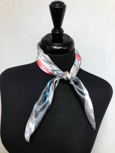 Silver, Peach & Turquoise Scarf