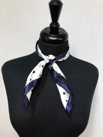 Navy Blue & White Star Scarf