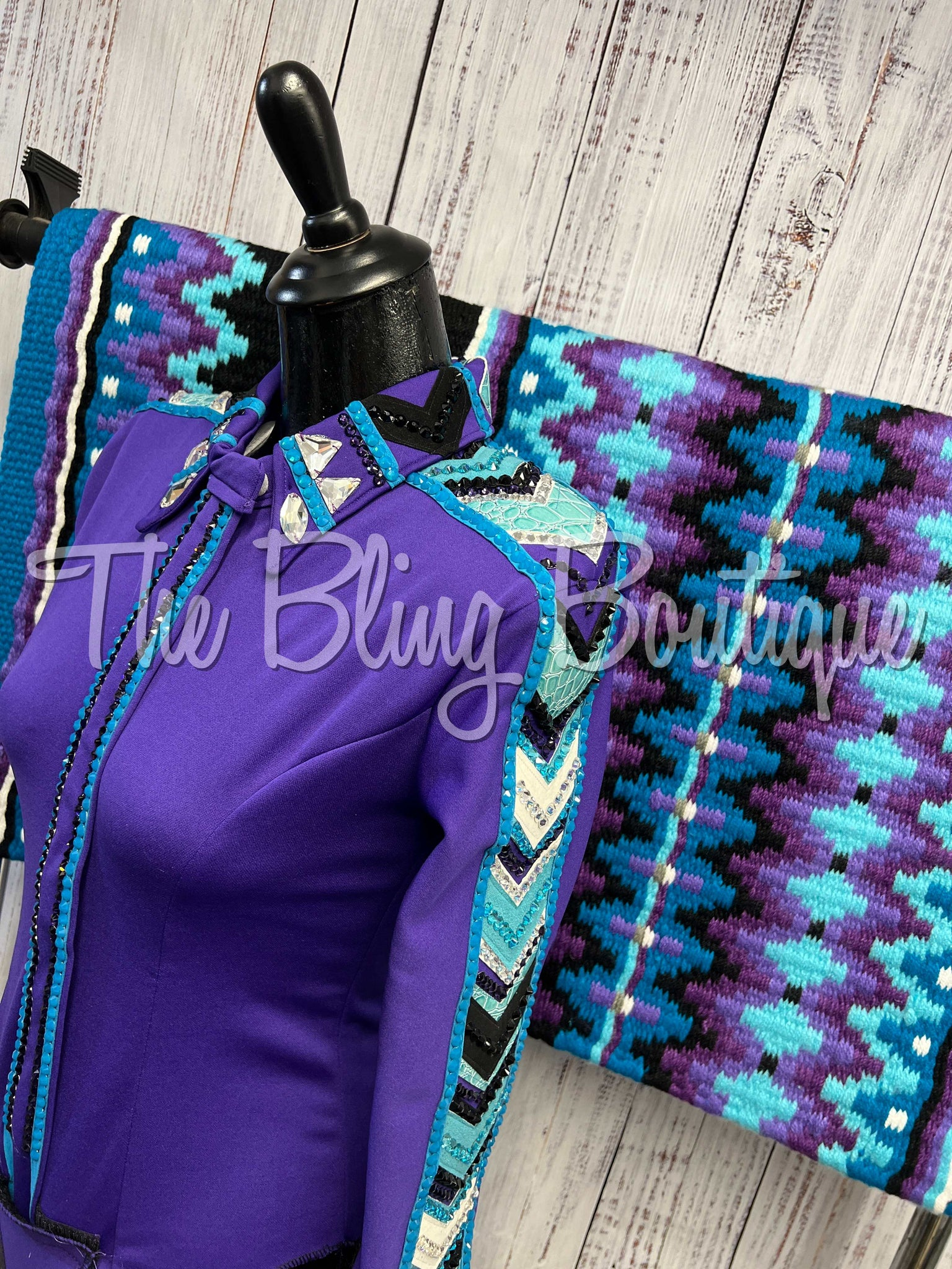 Ranch Scarf - Black & Red Leopard