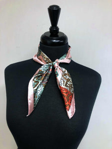 Peach, Coral & Mint Paisley Scarf