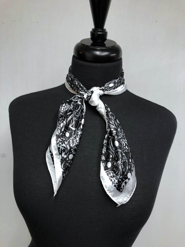 Black & White Classic Floral Scarf