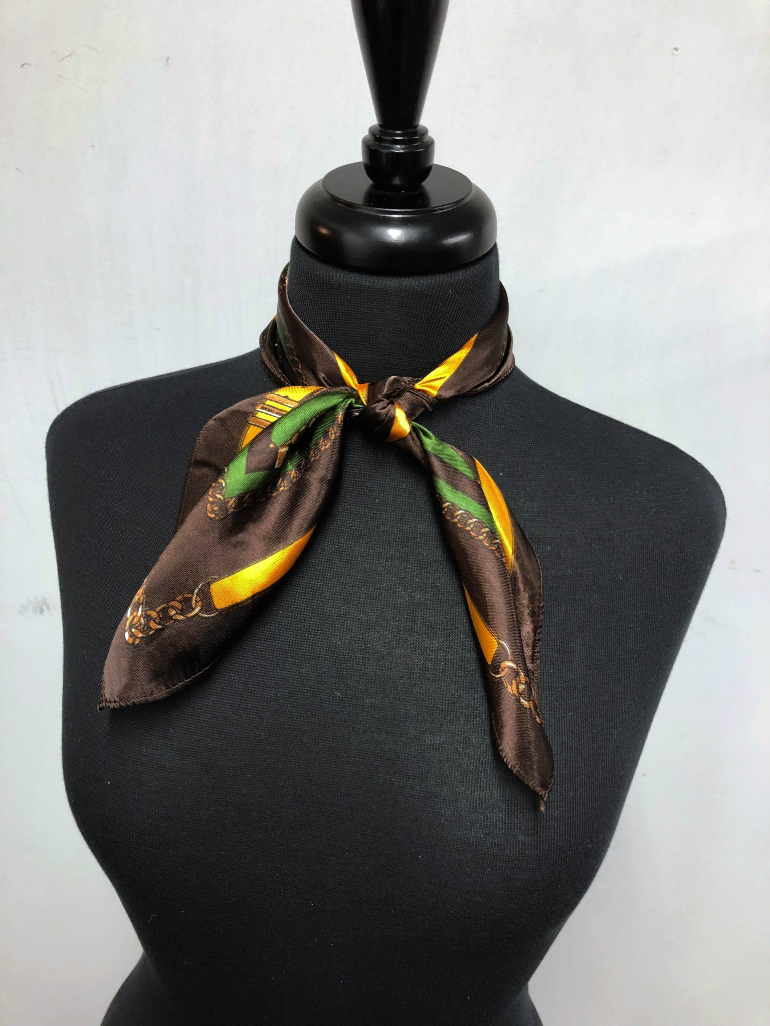 Brown, Gold & Green Scarf
