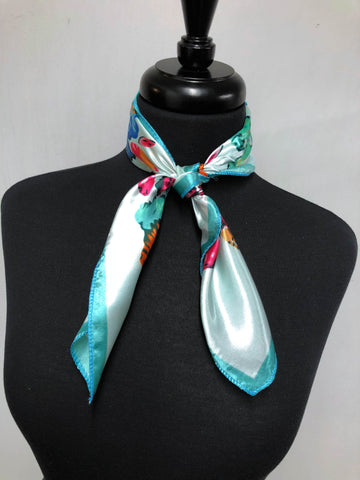 Teal, Mint & Mix Floral Scarf