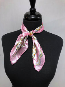 Pink Scroll Scarf