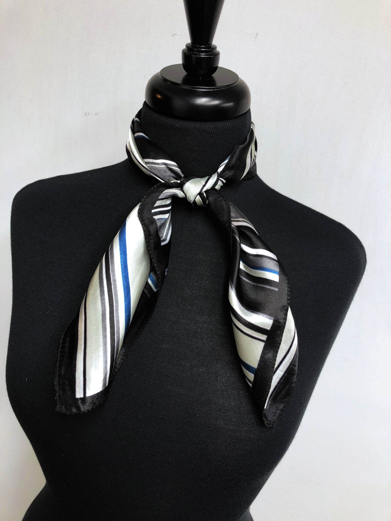 Black, Blue & Charcoal Scarf