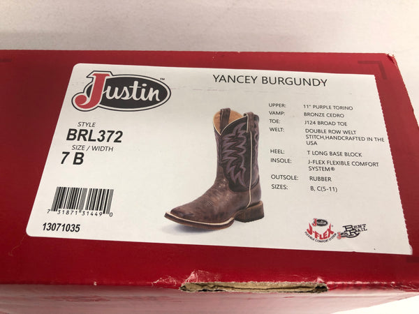 Ladies Justin Boots - Size 7