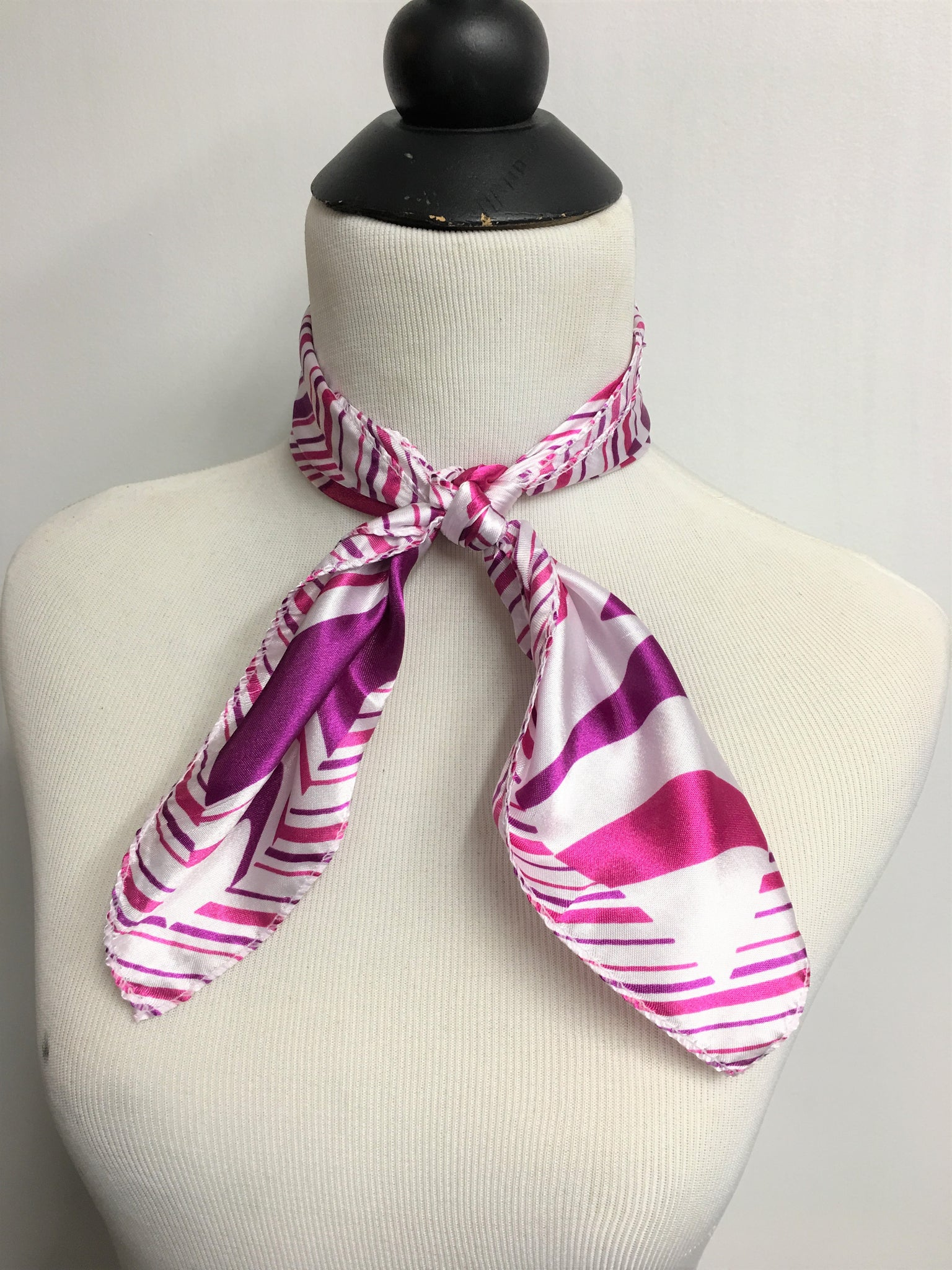 Fuchsia & Purple Stripe Scarf