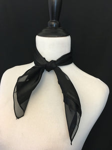 Black Stripe Sheer Scarf