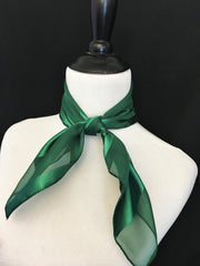 Dark Green Stripe Sheer Scarf