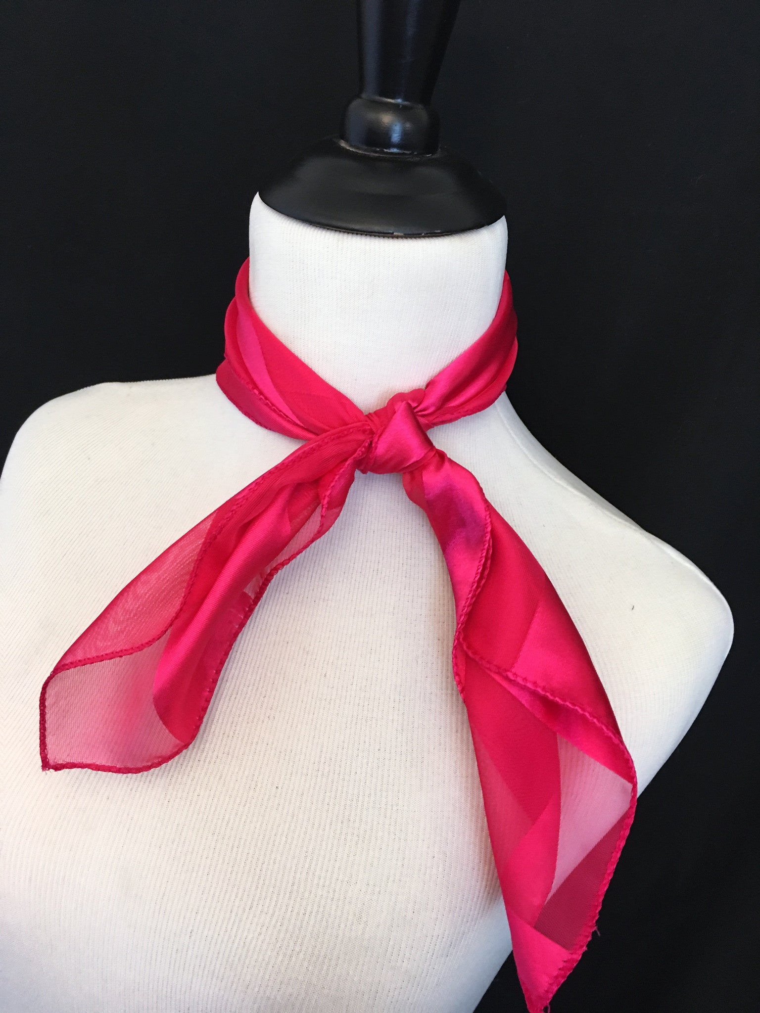 Hot Pink Stripe Sheer Scarf