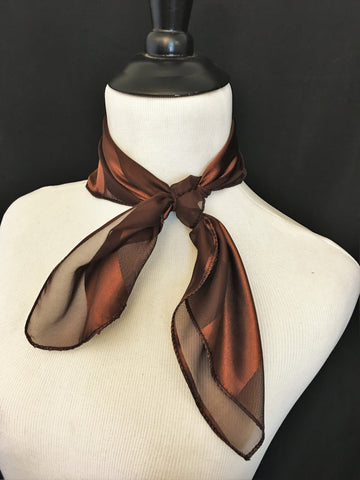 Brown Stripe Sheer Scarf