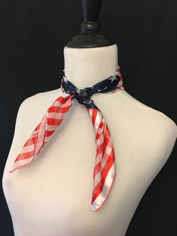 American Flag Stripe Sheer Scarf