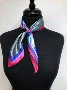 Pink, Turquoise, Purple & Silver Scarf