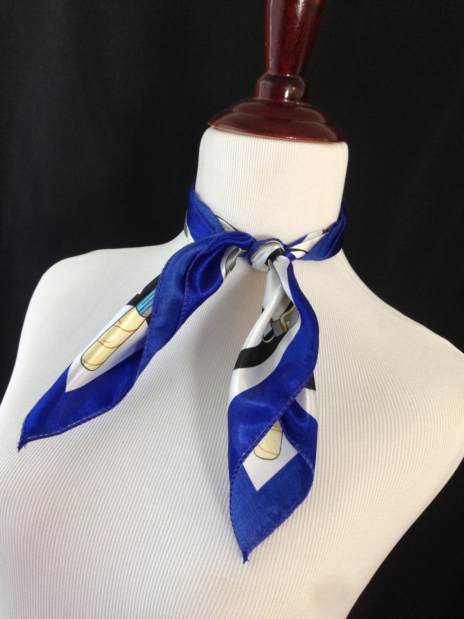 Royal Blue Chains Scarf
