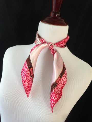 Red & Pink Leopard Scarf