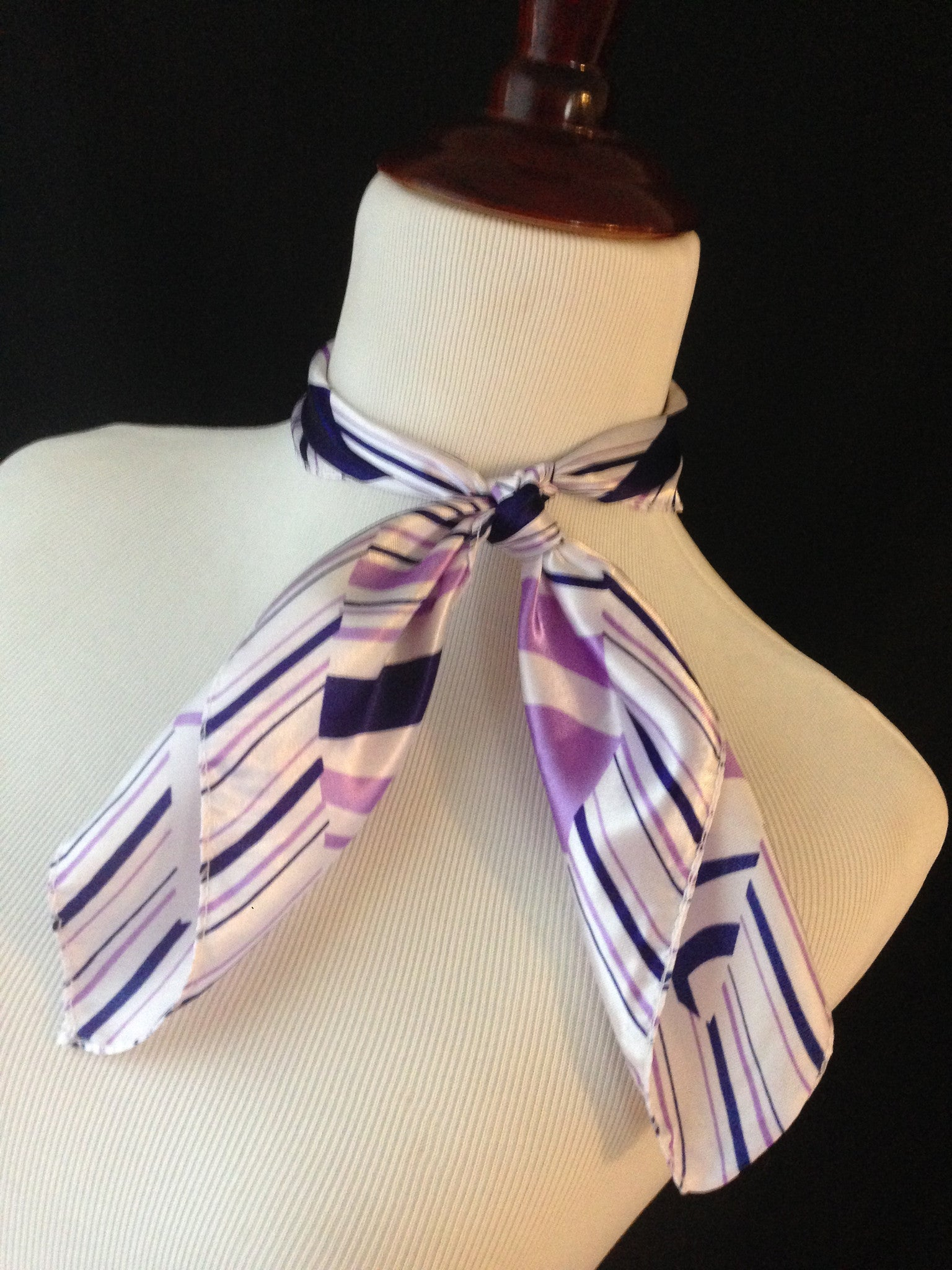 Lavender & Purple Stripe Scarf
