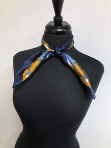 Navy & Gold Chain Scarf