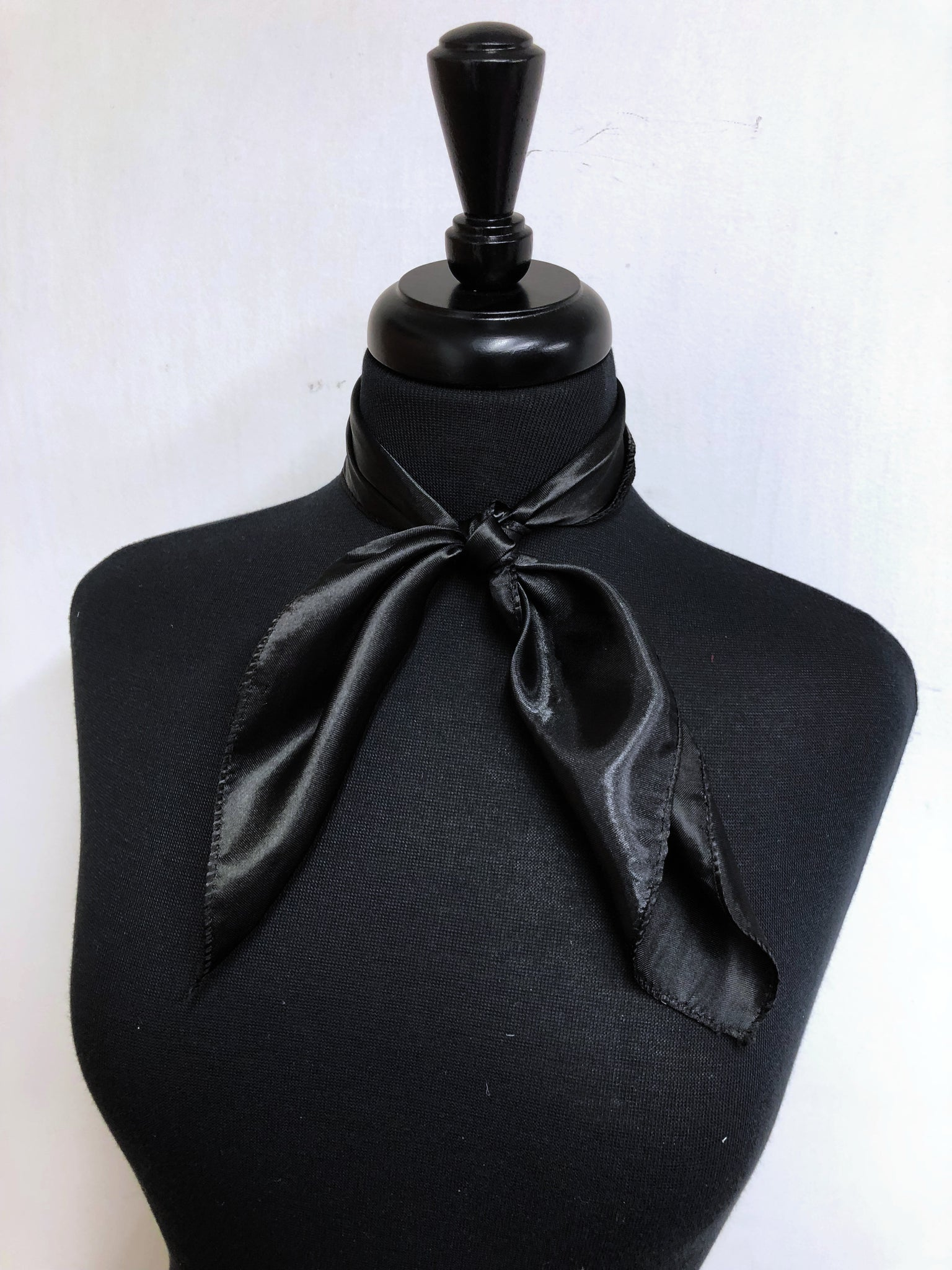 Solid Black Scarf