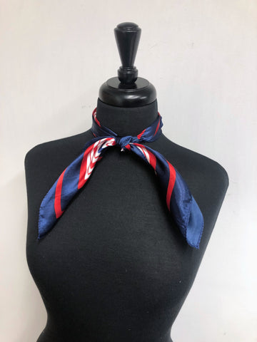 Red, White & Blue Stripe Scarf
