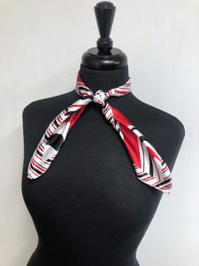 Black, Red & White Stripe Scarf