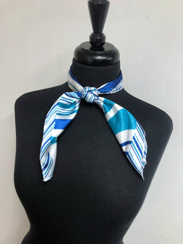 Blue & Turquoise Stripe Scarf