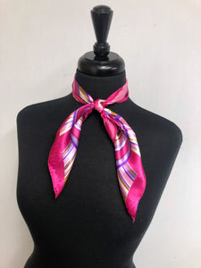 Pink, Purple, Cream & Brown Swirl Scarf